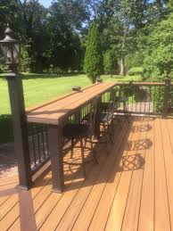 pictures diy deck railing bar of s built on the in existing rhcom kulshan table kit