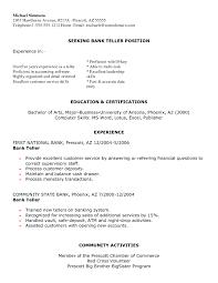 Bank Teller Resume Sample Berathen Com