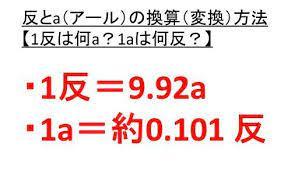 1 アール は 何 平方メートル です か