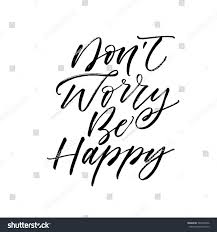 Dont Worry Be Happy Postcard Positive Stock Vector (Royalty Free) 567600436