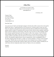 Professional Regional Manager Cover Letter Sample Writing Guide