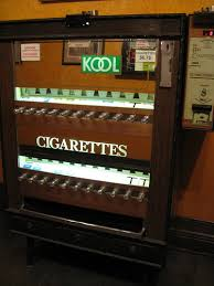 Cigarette Vending Machines Illegal