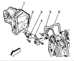 hose heater core the engine block heater control valve graphic