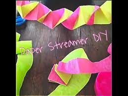 paper streamer decorations you