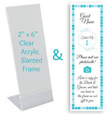 Custom Place Card Inserts In Photo Booth Frames Photo Booth
