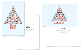 Holiday Templates Holiday Art Greeting Card Template Word Publisher