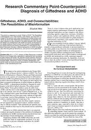 pdf giftedness adhd and overexcitabilities the possibilities of misinformation