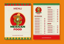 mexican food menu design. Contemporary Menu Mexican Food Menu Template Vector In Design