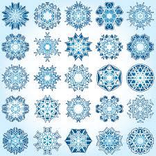 Snowflake Designs Ornate Silhouettes Vector Illustration Of Design