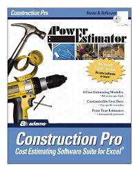 com adams powerestimator construction pro estimating com adams powerestimator construction pro estimating software 9 x 11 5 inches alb503sw adams contractor pro software office products