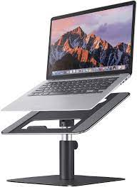 Adjustable Laptop Stand MOOJAY Rotatable Laptop Riser, Suitable for 11-17.3  Inch Laptop, Aluminum Laptop Stand for Desk, Ergonomics Notebook Stand for  MacBook, HP, Dell, Lenovo  Black