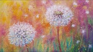 canvas painting parties awesome dandelion wildflowers live beginner acrylic painting tutorial