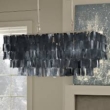 capiz has been popular for a few years particularly in pendant lighting but it s not often you see it in a rectangular shape or in gray west elm s large