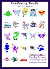 Printable Stencils For Kids Printable Cheek Art Designs Face Painting Stencils Full Set Of 23