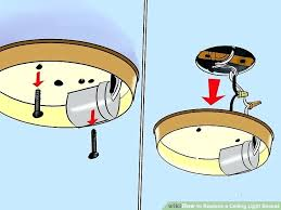 how to change ceiling light image titled replace a ceiling light socket step 4 replace ceiling how to change ceiling light