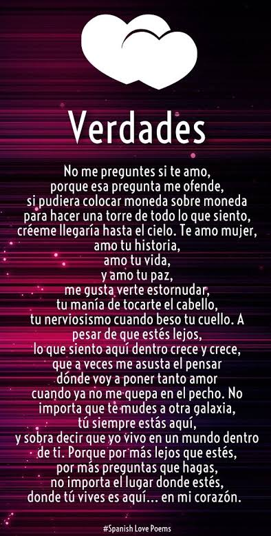 love poems for him from the heart in spanish