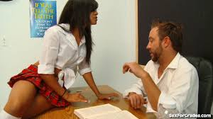 Naughty Schoolgirl Busted By Her Teacher Nasty Snack