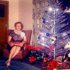 Website visitor Anna Bates shares this picture and memories of her mother  with us. Referring to their first aluminum Christmas tree, Anna writes: