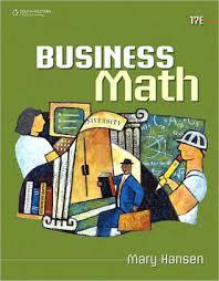 business math business math edition 17 hardcover