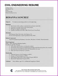 Civil Engineer Resume Sample Lovely Civil Engineering Resume Samples For Freshers Pdf Fresh 37