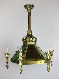 fabulous mission style chandelier mission style arts and crafts slag glass light fixture 12 light