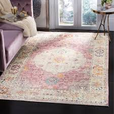 pink and cream rug remarkable safavieh illusion viscose area 5 x 8 free interior design