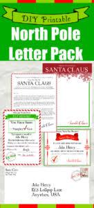 Free Printable Letters From Santa His Elves Christmas Diy Bear