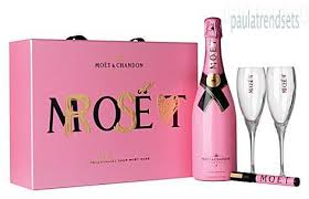 moet chandon rose valentine s chagne set