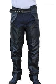 men women braided motorcycle biker cowhide leather chaps