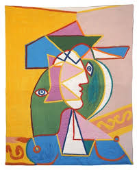 modern art wall tapestry femme au