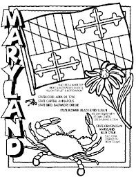 Small Picture Maryland State Symbol Coloring Page by Crayola Print or color