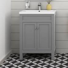 high end bathroom vanity units. 600mm melbourne earl grey double door vanity unit - floor standing high end bathroom units