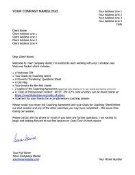 Welcome Letter Template Welcome Letter Sample Template Coaching Tools From The