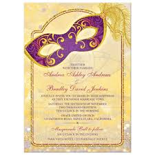 Masquerade Wedding Invites Magical Masquerade Wedding Invitation Purple Red Gold