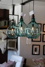 glass jug pendant light clear bottle diy green lights blue jalepink