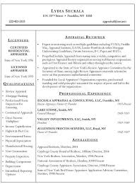 Estate Appraiser Resume Example