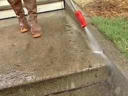 Diy concrete step Poured Concrete Pressure Wash Concrete To Get Steps Totally Clean Diy Network How To Patch And Resurface Concrete Steps Howtos Diy