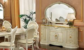 Anrichte Sideboard Wohnzimmer Esszimmer Buffet Beige Hochglanz Stilmöbel  Italien
