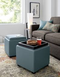 Storage Ottoman Plans Furniture Popular Leather Storage Ottoman Design For Your Smart