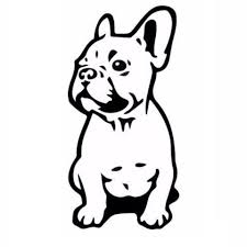 bulldog puppy drawing. Contemporary Puppy Sitting French Bulldog Puppy Outline Drawing Sticker 3 Inside O