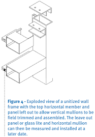 if the design cannot tolerate a customized wall infill panel and must be installed for instance with glass or shadow box in fills to match the unitized