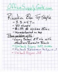 Rhodia Bloc Top Staple Graph Paper Notebook Review