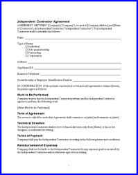 independent contract template 10 independent contractor contract letter template word
