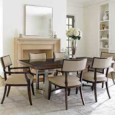 upholstered dining room chair. Amazing Baers Dining Room Furniture With Rectangle Table Chrome Base Finish And Upholstered Arm Chair