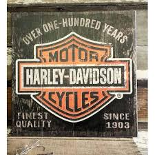 Harley Davidson Signs Decor HarleyDavidson Wooden Shield Sign A Simpler Time 7
