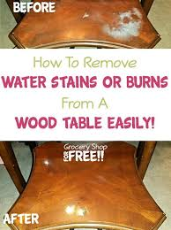 how to remove water stains from a wood table easily