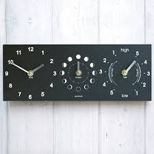 recycled moon time tide clock