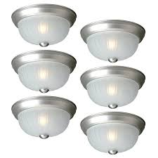 project source 6 pack 10 in w painted brushed nickel flush mount light