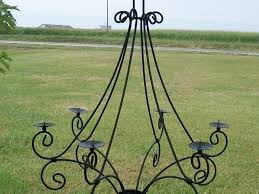 outdoor candle chandelier non electric
