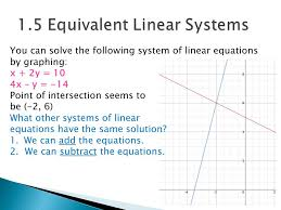 you can solve the following system of linear equations by graphing x 2y